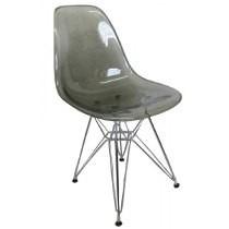 Cadeira Charles Eames Dkr Torre -acrílico E Base Em Aço Inox
