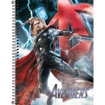 10 Cadernos Espiral Tilibra Avengers Vingadores 1 Mat 96 Fl