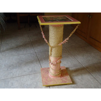 Mesa Decorativa Com Correntes E Corda De Sisal