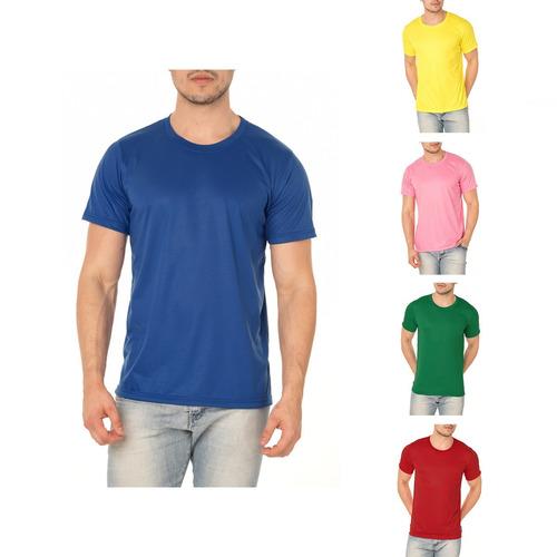 Kit 15 Camisetas Lisa Colorida P  Sublimação 100% Poliéster - R  252 ... 3ab4e84650737