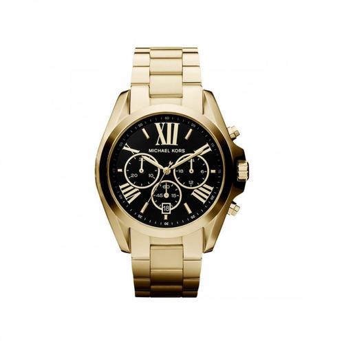 9fc35efc0dbf1 Relógio Michael Kors Unissex Dourado Fundo Preto Mk5739 4pn