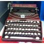 Miniatura Máquina Escrever Antiga Envelhecida Em Metal Retro