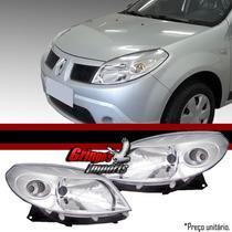 Farol Renault Sandero Até 2010