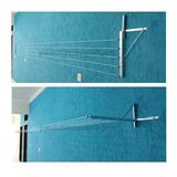 Varal Muro/parede Zincado Mão Francesa 5 Cordas Até 5 M   Ah