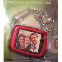 Chaveiro Usb - Mini Porta Retrato Digital - Armazena Fotos!