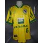 Camisa Seleção Brasileira De Futsal Anos 90 N#5 De Jogo