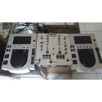 Kit 02 Cdjs Pioneer 100s + 01 Mixer Gemini Ps540i