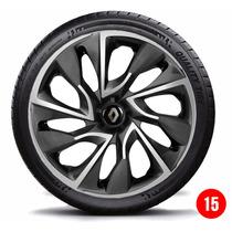 Calota Aro 15 Esportiva Ds4 Renault Sandero Logan Symbol Cli