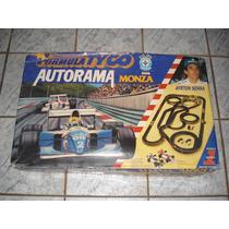 Autorama Fórmula Tyco Estrela Monza Ayrton Senna Completo