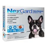 03 Nexgard 4 A 10 Kg - Elimine 100% Dos Carrapatos!