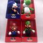 Kit 4 Bonecos Super Mario Yoshi Luigi Sonic 23cm Big Size