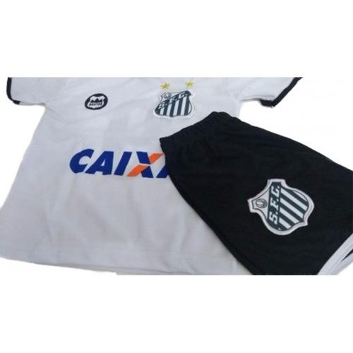 290124cf4d24f Conjunto Infantil Santos Short + Camisa Uniforme Pronta Entr