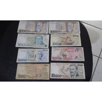 Dinheiro Antigo Cruzeiro E Cruzado Lote Com 8