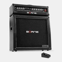 Amplificador Borne Gladiator 1200 + Caixa 100w Rms Cor Preta