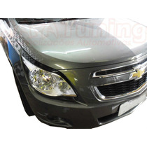 Kit Aplique Farol Mascara Negra Vinil Chevrolet Cobalt 2012/
