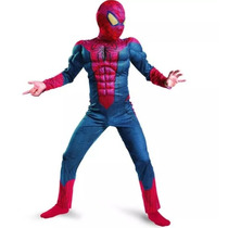 Fantasia Homem Aranha De Luxo C/ Músculos Pronta Entrega
