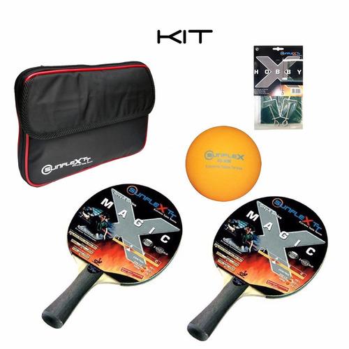 b85c3b028 Kit Capa-rede-bola-raquete De Tenis De Mesa Sunflex