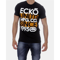 Promoção Camiseta Masculina Ecko Unltd Preta Laranja