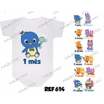 Body Backyardigans Bebê Kit 12 Body Mesversario Personalize