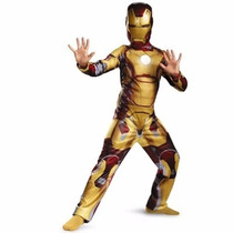 Fantasia Iron Man 3 Longa Dourada- Homem De Ferro