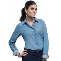 Blusa Jeans Fashion Feminina Principessa Mayara