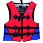 Colete Salva Vidas 80kg Adulto Ziper Flutuador Pescaria Bote