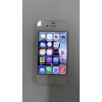 Celular Apple Iphone 4 Branco 8g Com Todos Os Accessórios