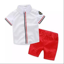 Conjunto Infantil Menino Camisa + Bermuda Pronta Entrega