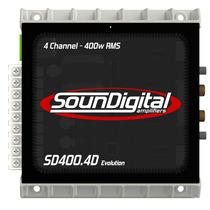 Lançamento! Soundigital Sd400.4d Sd400.4 Evolution Sd400rms