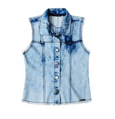 Colete Infantil Menina Vic vicky - 89336718a Jeans a66b4251d12