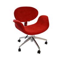 Cadeira Tulipa Base Giratória - Vermelha - Velotec