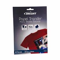 Papel Transfer C/5 Para Tecidos Escuros 0020 Bright