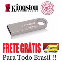 Pen Drive 64 Gb - Kingston Dt Se9 - Original-lacrado - Metal