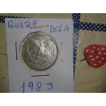 Moeda Quater Dollar 1983 Muito Rara