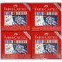 Giz De Cera Faber Castell Metálico 12 Cores Jardim Secreto