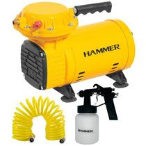 Compressor Ar Direto 1/3 Hp Bivolt Com Kit Pistola Hammer