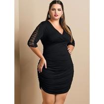 Vestido Preto Plus Size Balada / Festa - Roupa Grande Promoc