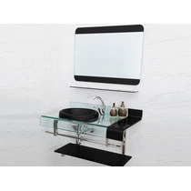Gabinete Vidro Banheiro Similar Chopin Astra - 90x53