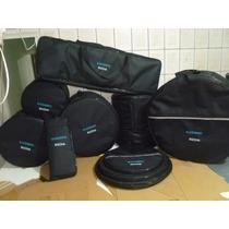 Capa Bag Kit Bateria Completo 8pçs. Super Luxo.