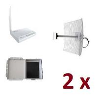Kit 2 Wr2500hp Roteador 1000mw +2 Antenas 25dbi +2 Hermética