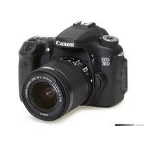 Câmera Cannon Eos 70d + 18-135 + 55-250 E Acessórios Linda
