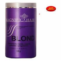 Pó Descolorante Ultra Rápido Magnific Hair Blond + Brinde