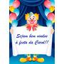 Painel Banner Lona Aniversario Infantil Tema Circo
