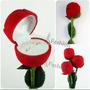 Caixa De Veludo Em Forma De Rosa Para Anel ,aliança ,brinco