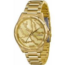 Relógio Lince Dourado Feminino (orient) Lrgk042l Prova 30m--