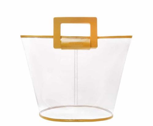 d1b053503 Bolsa Arezzo Vinil Shopping Média Transparente Solare Nova