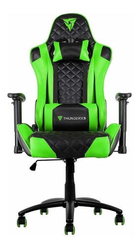 Cadeira De Escritório Thunderx3 Tgc12 Jogador Ergonômica Black/green