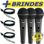 Microfone Mão Novik Fnk5 Kit C/3 Profissional Cápsula Alemã