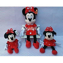 Boneca Minnie Vermelha De Pelúcia Kit Com 3