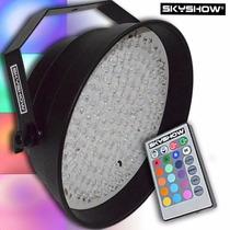 Par 64 Wireless Skyshow - Sequencial Rgb C/ Controle Remoto